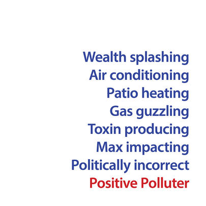 Wealth Splashing Positive Polluter Greeting Card