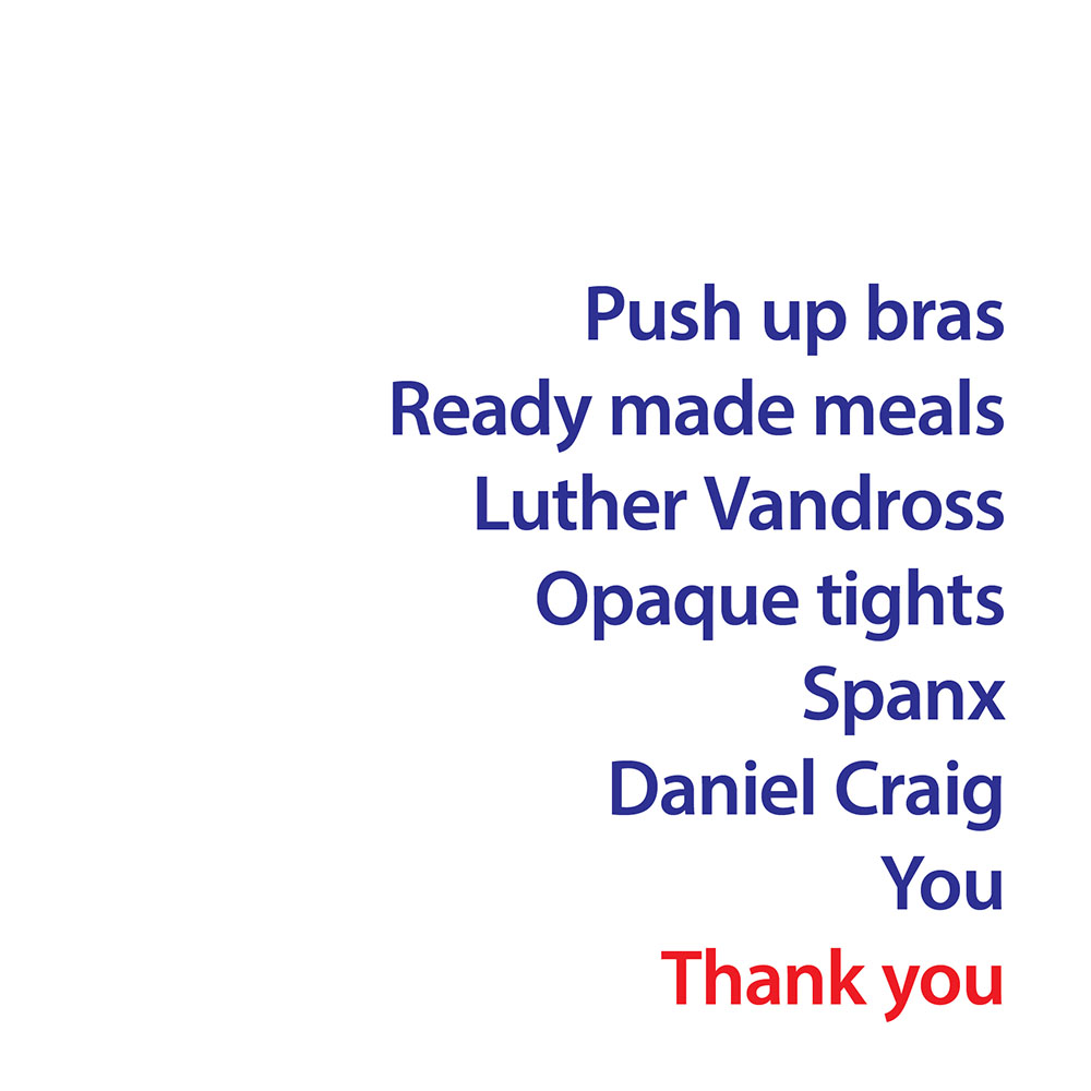 Push Up Bras Thank You Greeting Card Quirky Range Greetings Cards