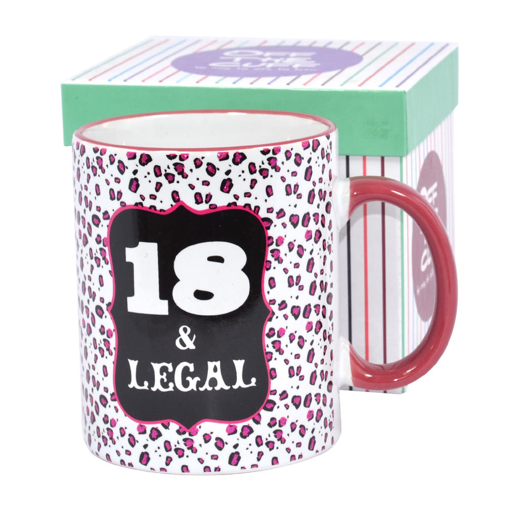 18 & Legal Off The Cuff 18th Birthday Mug In Gift Box