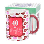40 & Naughty Off The Cuff 40th Birthday Mug In Gift Box