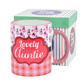 Lovely Auntie Off The Cuff Mug In Gift Box
