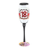 18th Birthday Off The Cuff Decorated Champagne Glass In Gift Box
