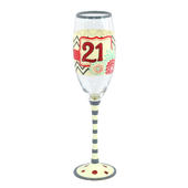 21st Birthday Off The Cuff Decorated Champagne Glass In Gift Box