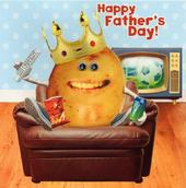 Couch Potato Father's Day Card