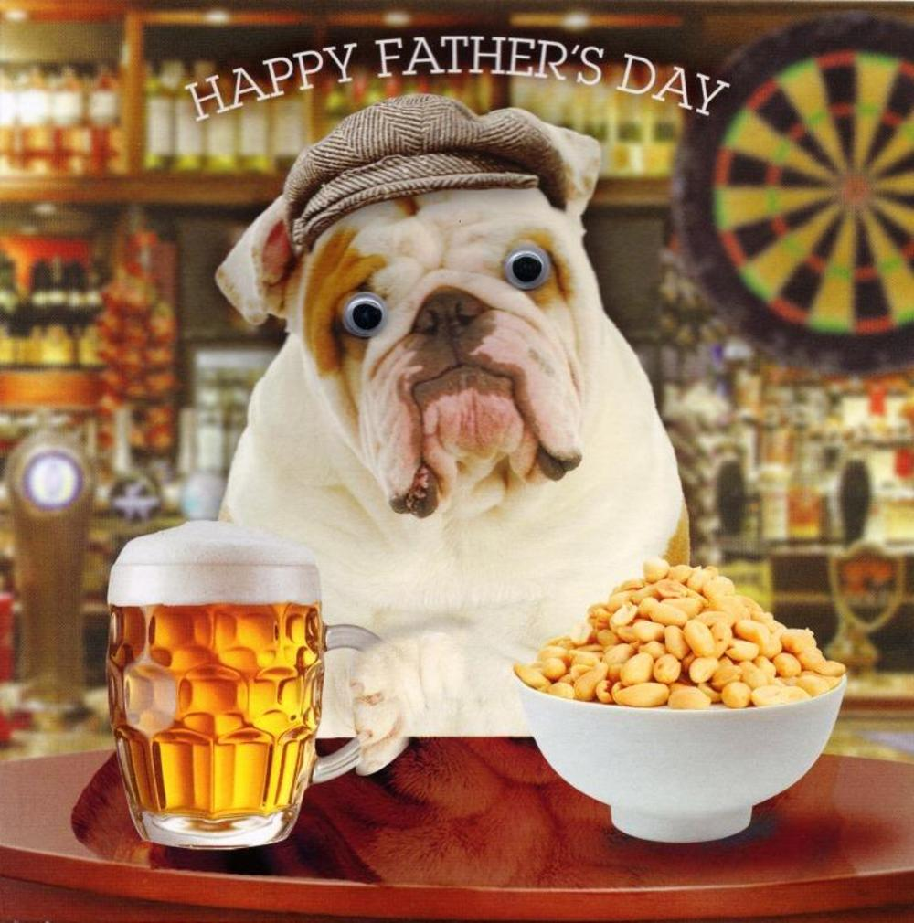 British Bulldog Happy Father's Day Card