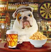 British Bulldog Happy Father's Day Card