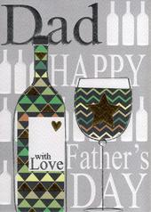 Dad With Love Happy Father's Day Card