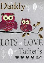 Daddy Lots Of Love On Father's Day Card