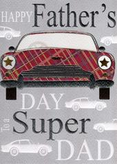 Super Dad Happy Father's Day Card