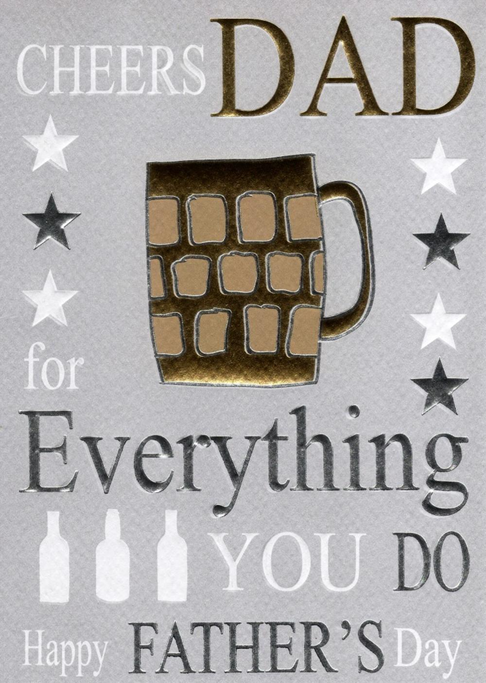 Cheers Dad Happy Father's Day Card
