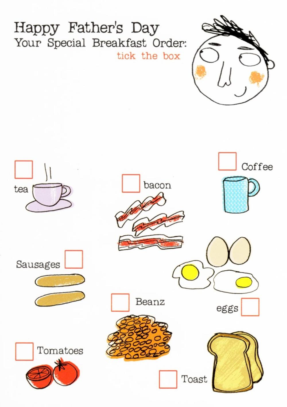 Special Breakfast Order Happy Father's Day Card