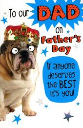 To Our Dad Funny Bulldog Father's Day Card
