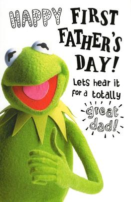Muppets Kermit Happy First Father's Day Card