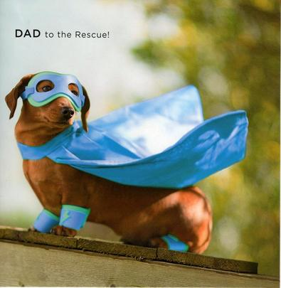 Dad To The Rescue Happy Father's Day Card