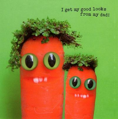 Funny Carrots Looks From Dad Happy Father's Day Card