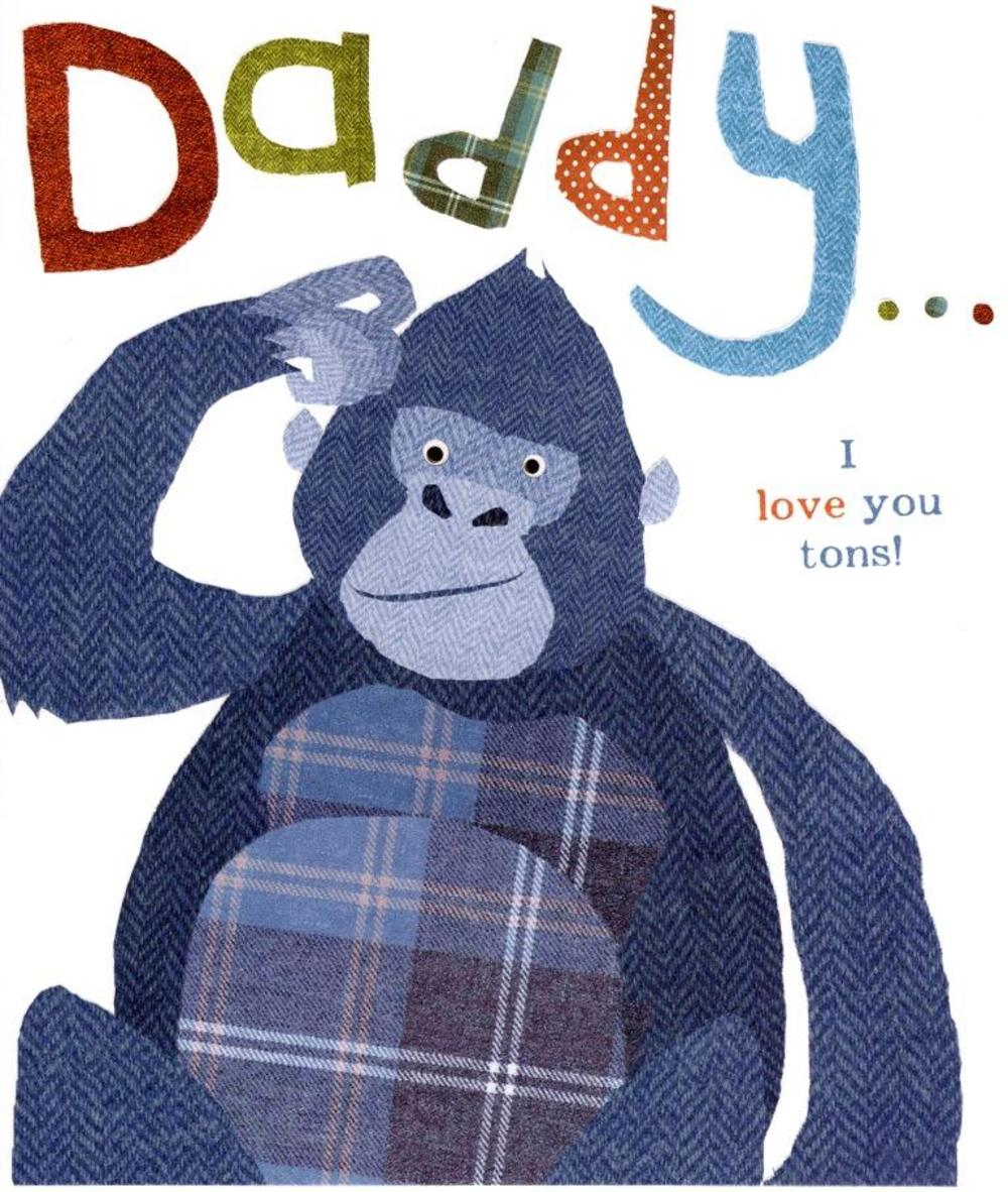 To Daddy From Your Little Monkey Father's Day Card
