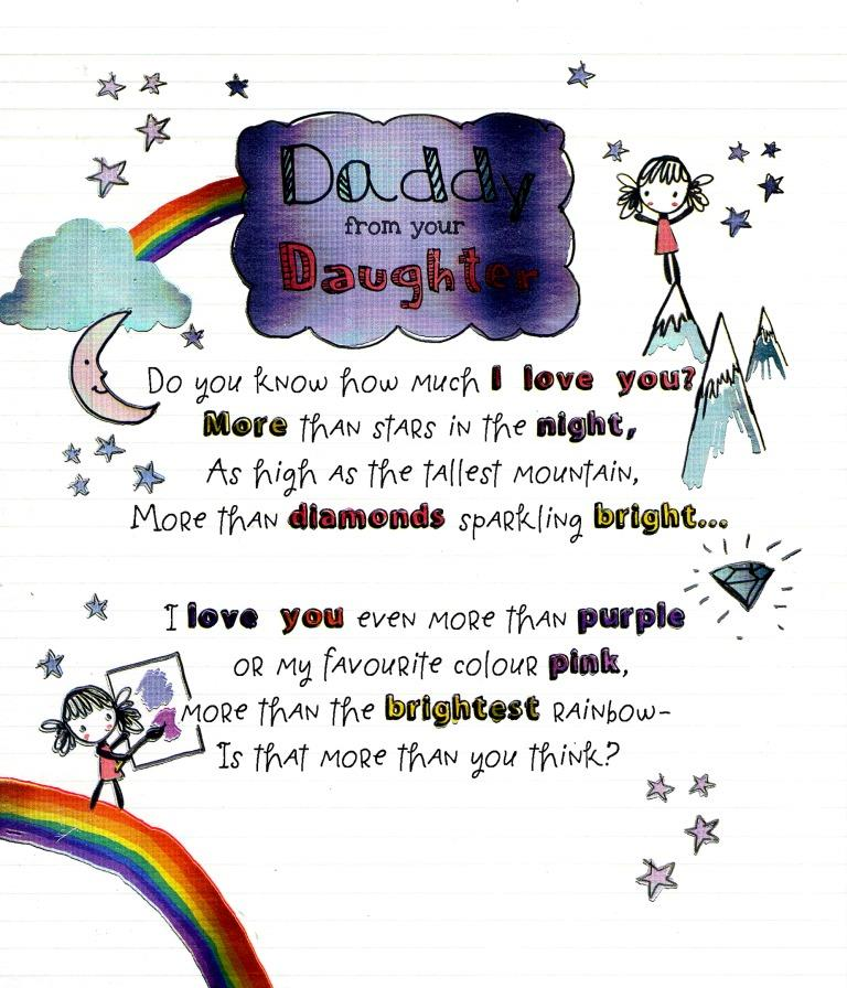 to daddy from your daughter fathers day card