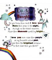 To Daddy From Your Daughter Father's Day Card