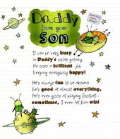 To Daddy From Your Son Father's Day Card