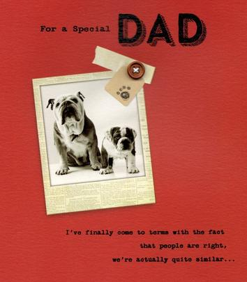 For A Special Dad We're Similar Happy Father's Day Card