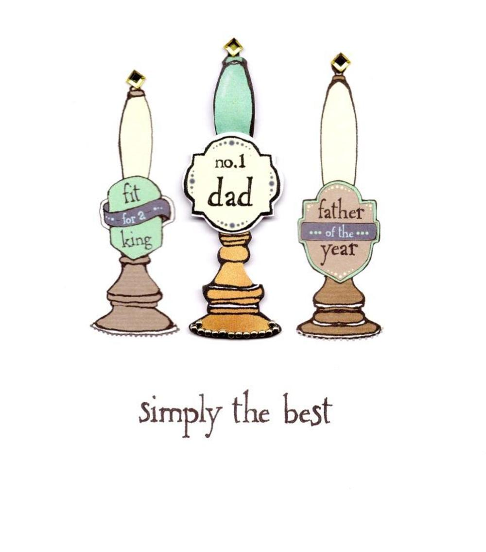 No.1 Dad Simply The Best Happy Father's Day Card