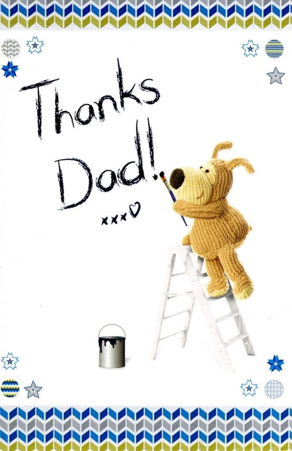 Boofle Thanks Dad Happy Father's Day Card