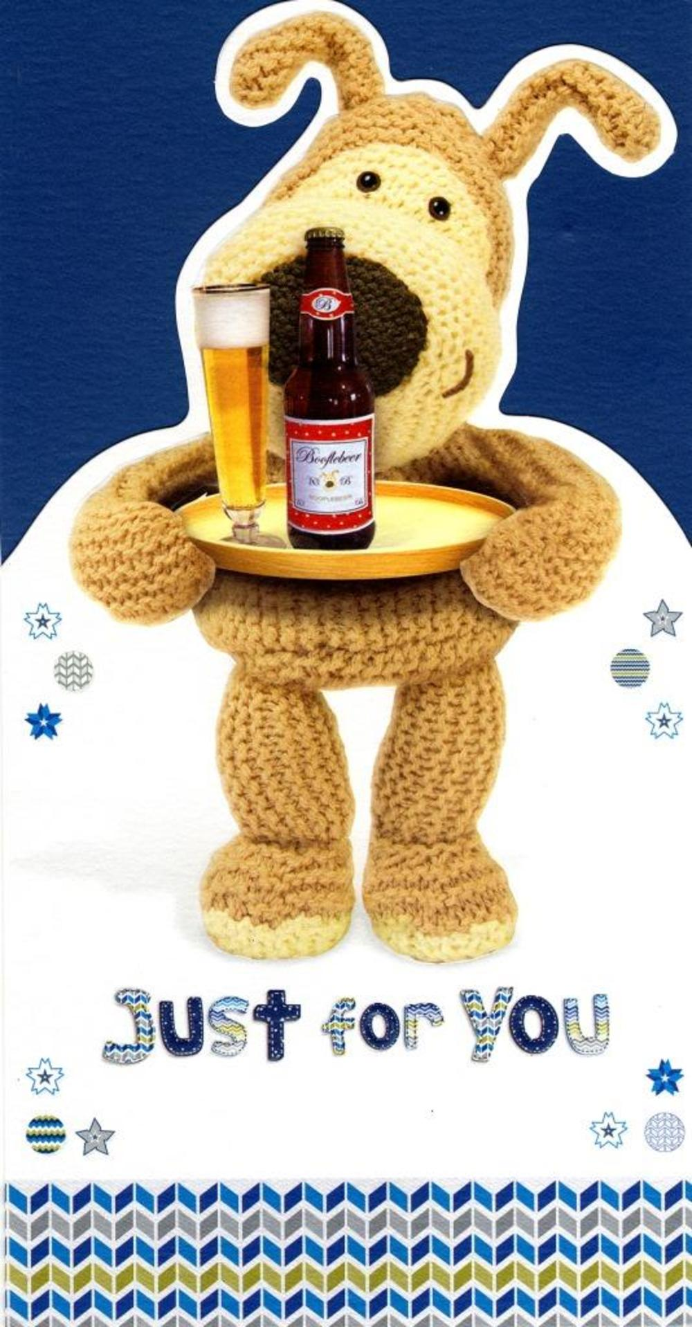 Boofle Just For You Cheers Happy Father's Day Card