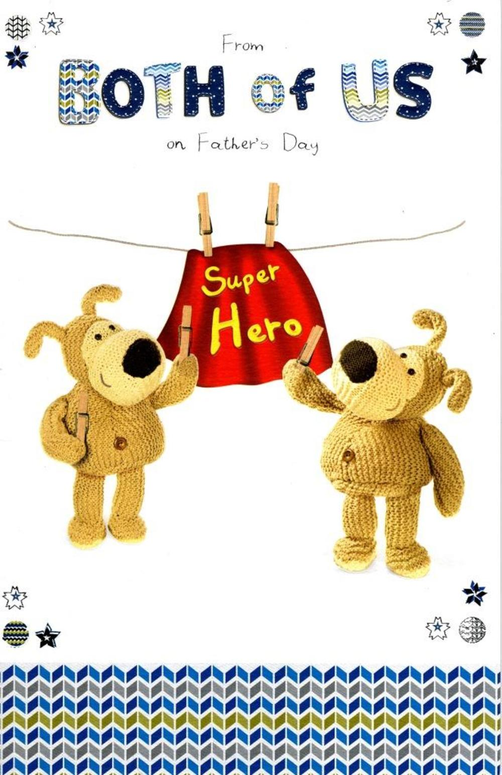 Boofle From Both Of Us Happy Father's Day Card