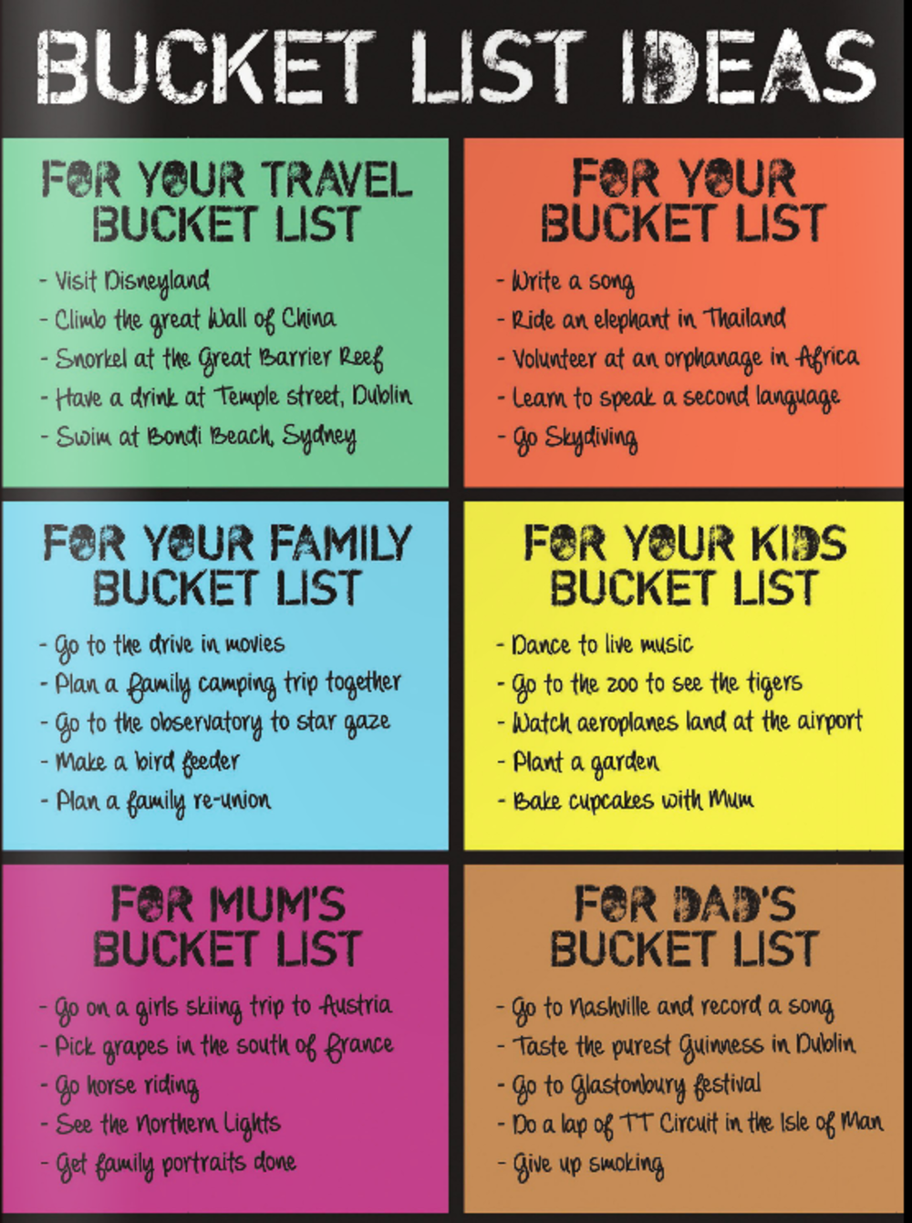 Splosh Family Bucket List Gift Idea Gifts Love Kates