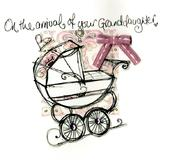 New Baby Granddaughter Embellished Greeting Card