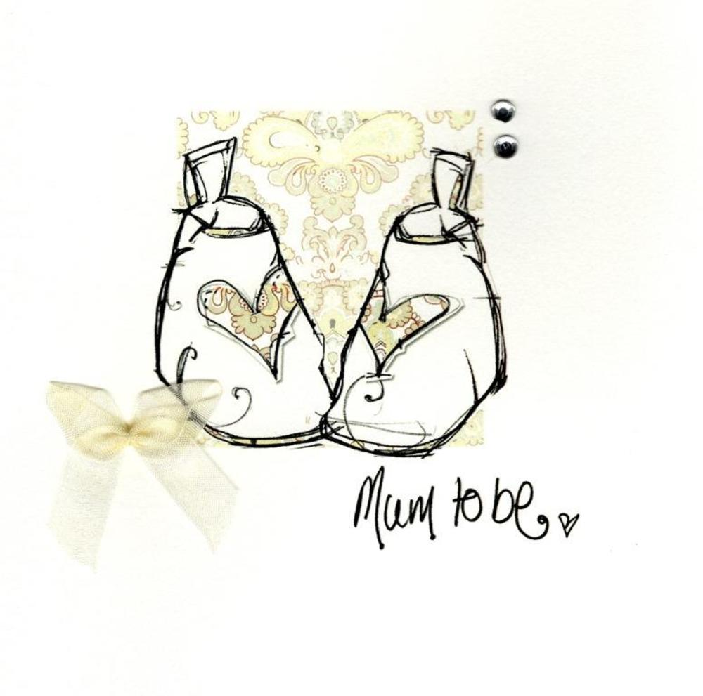 Mum To Be Congratulations Embellished Greeting Card