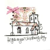 On Your Christening Day Embellished Greeting Card