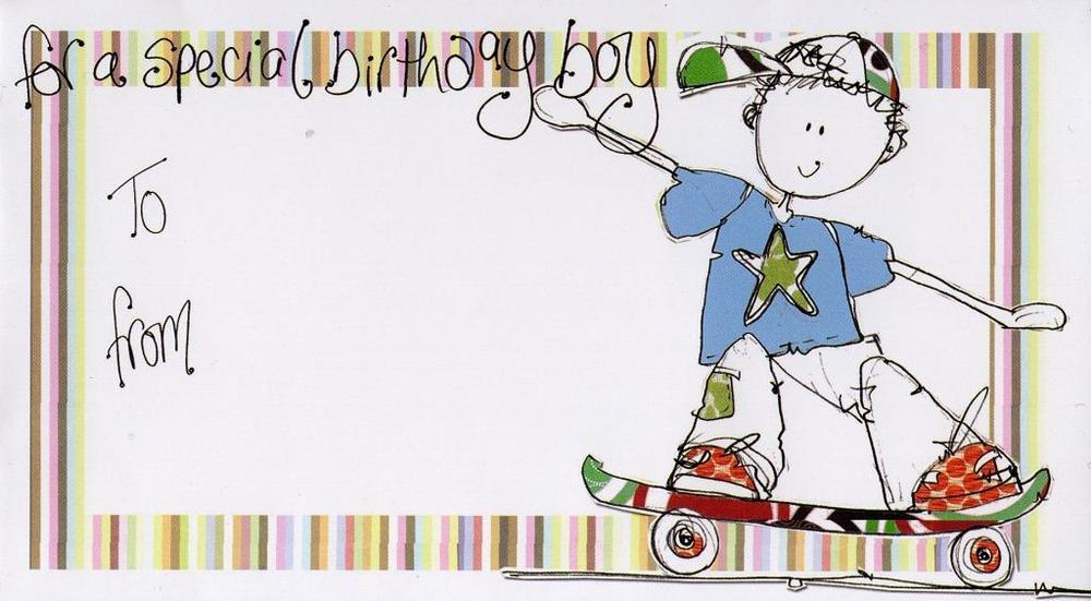 Special Birthday Boy Money Envelope Gift Card