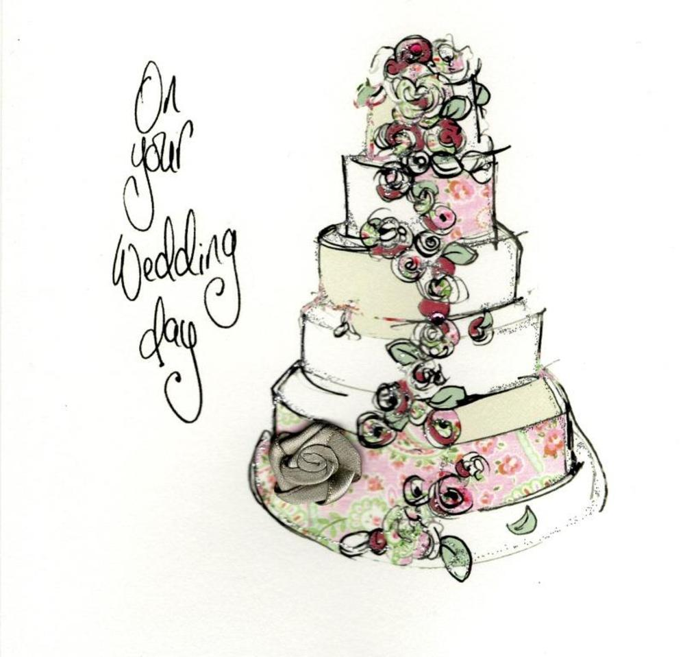On your wedding day embellished greeting card cards love kates on your wedding day embellished greeting card kristyandbryce Image collections