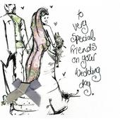 Special Friends On Your Wedding Day Greeting Card