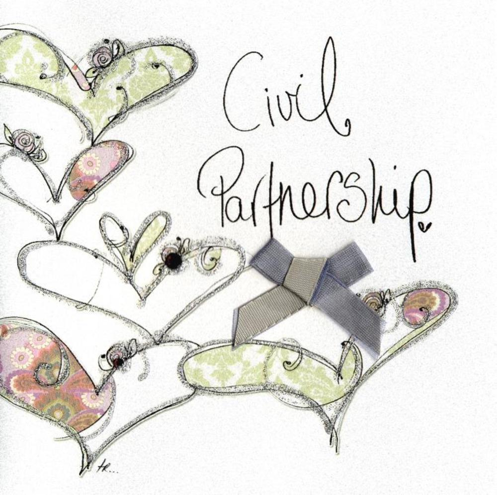 Civil partnership embellished greeting card cards love kates civil partnership embellished greeting card kristyandbryce Image collections
