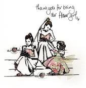 Thank You Flower Girl Wedding Thanks Greeting Card