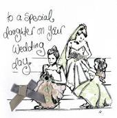 Daughter On Your Wedding Day Embellished Card