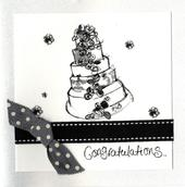 Congratulations Wedding Day Embellished Greeting Card