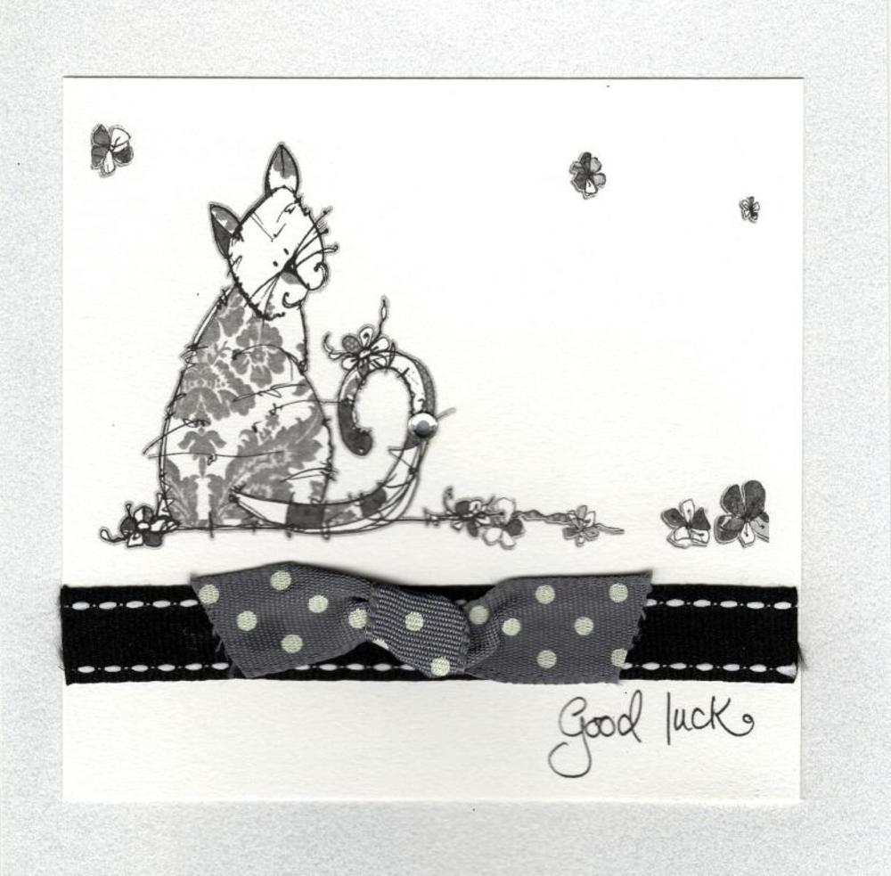 Good Luck Pretty Embellished Greeting Card