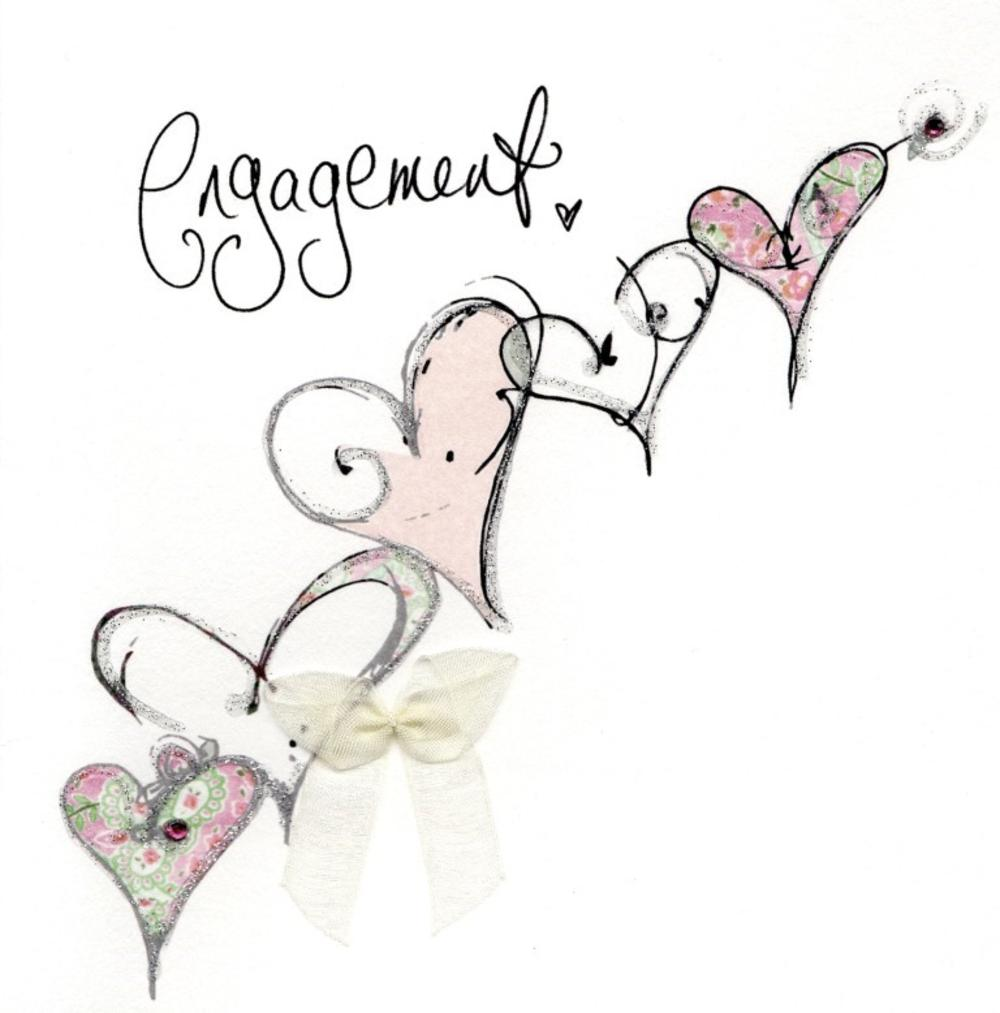Engagement Congratulations Embellished Greeting Card