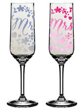 Mr & Mrs Wedding Day Champagne Flutes In Gift Box