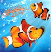 Clown Fish Googlies Birthday Card