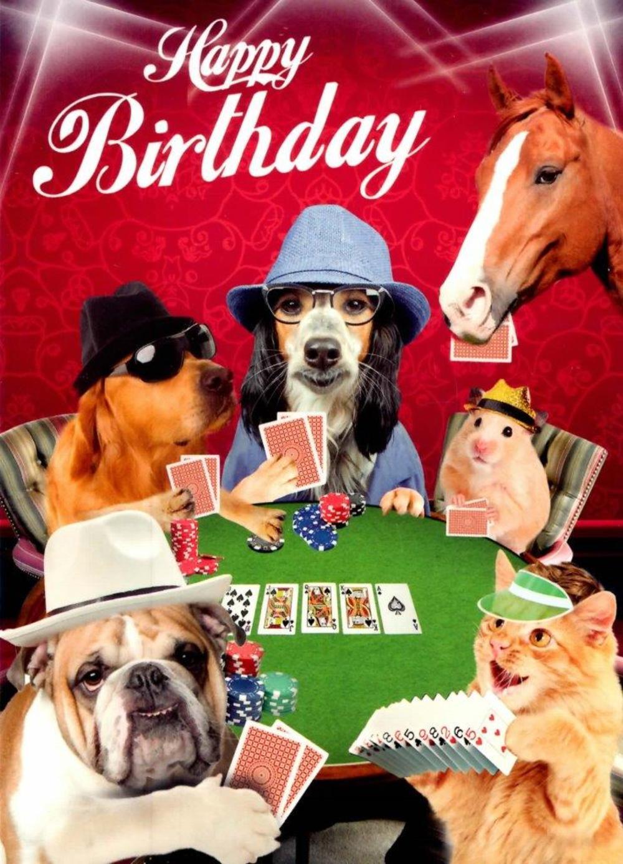 Cassino Night Happy Birthday Greeting Card