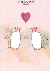 Penguin Love Blank Greeting Card