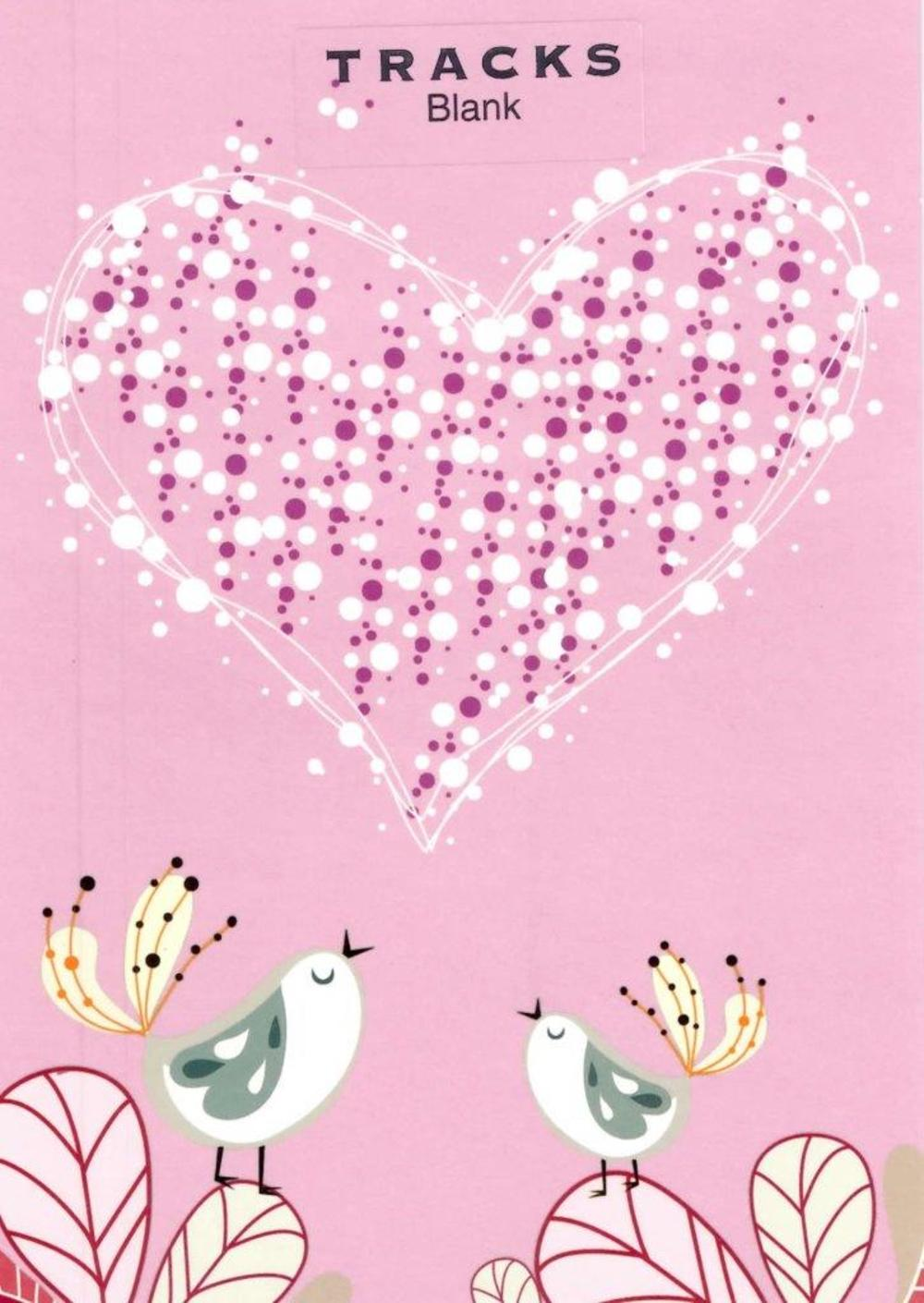 Pair Love Birds Blank Greeting Card
