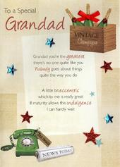 Special Grandad Birthday Greeting Card