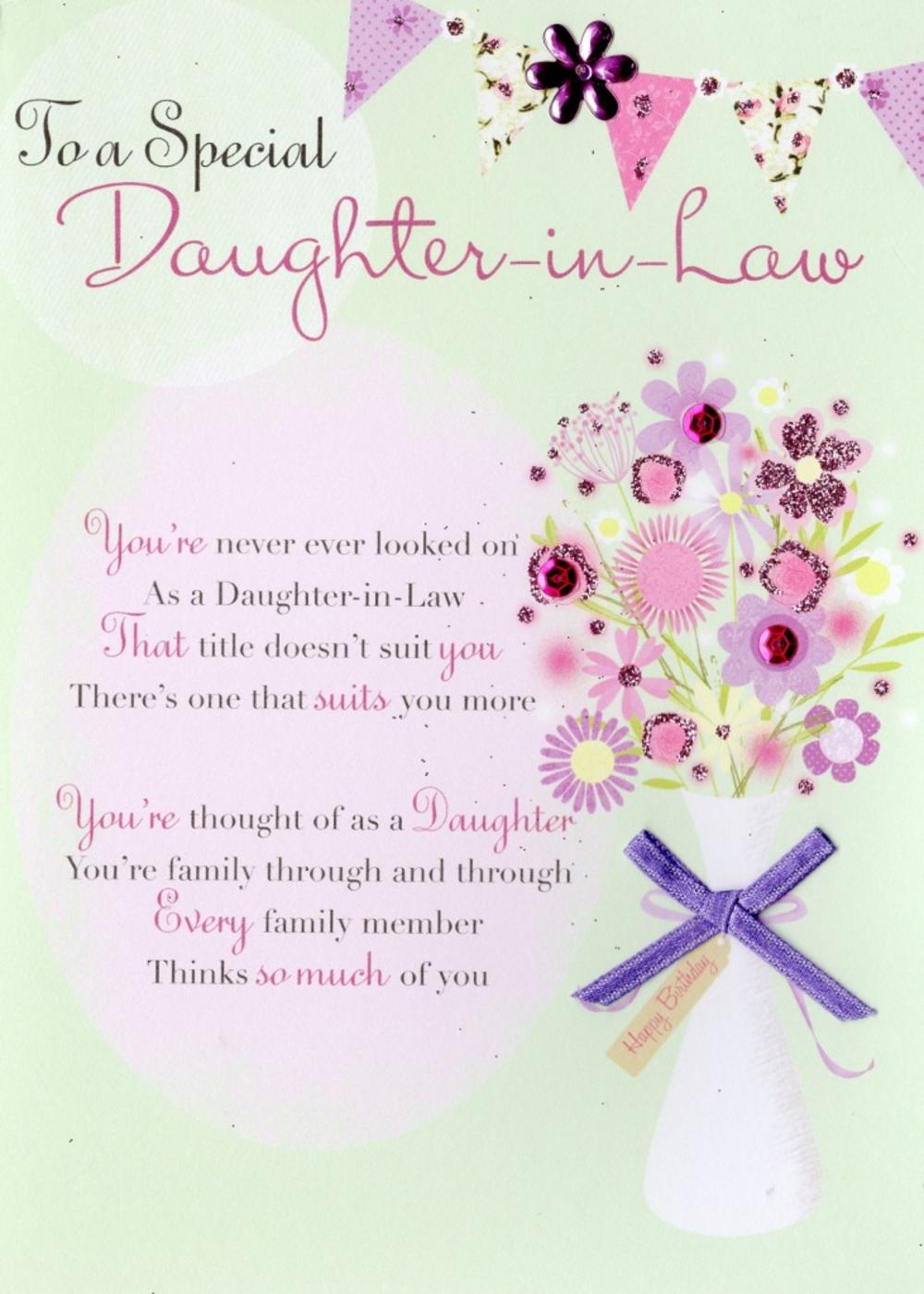 Special DaughterInLaw Birthday Greeting Card Cards – Birthday Greeting Cards Daughter