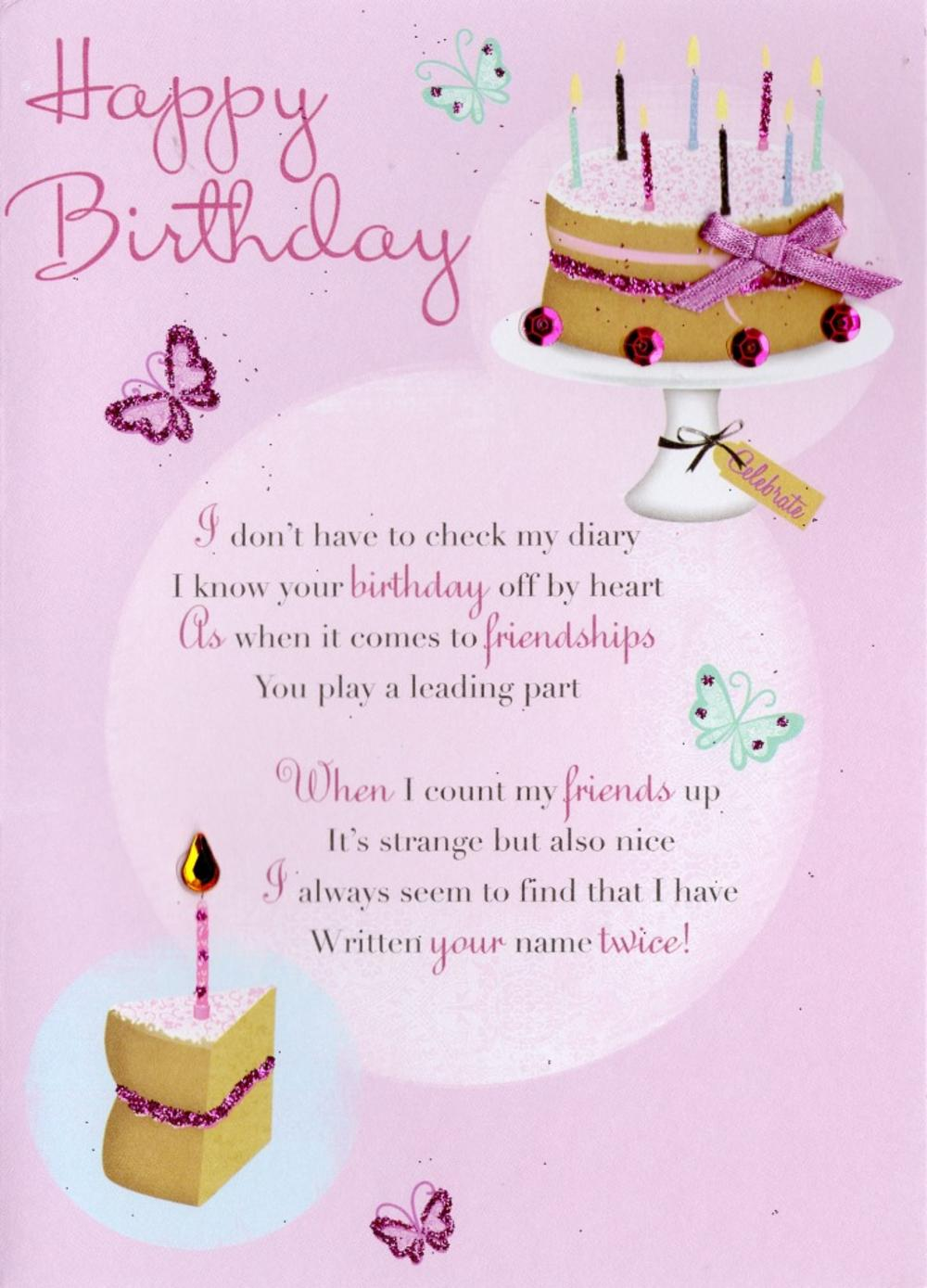 friend happy birthday greeting card