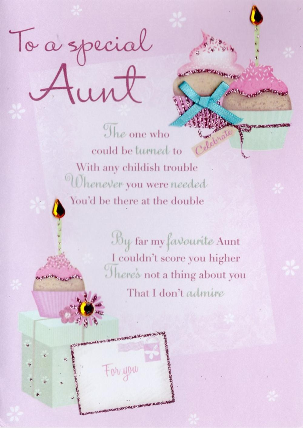 Special Aunt Birthday Greeting Card Cards